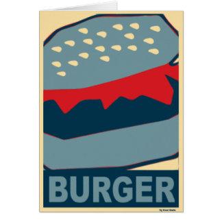 青のハンバーガーの芸術 グリーティングカード