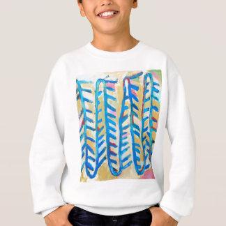 青のバラのとげ(抽象的表現主義) スウェットシャツ