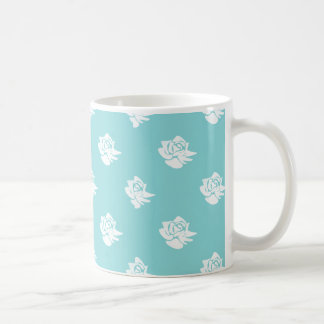 青のバラのマグ コーヒーマグカップ