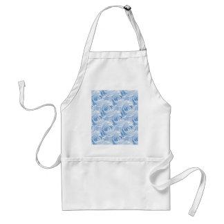 青のバラの壁紙パターン スタンダードエプロン