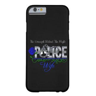 青のバラの警察の妻のiPhone 6の場合 Barely There iPhone 6 ケース