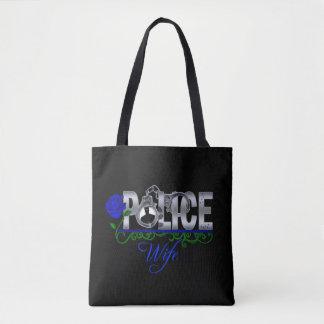 青のバラの警察の妻 トートバッグ