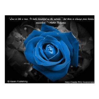 青のバラの郵便はがき ポストカード