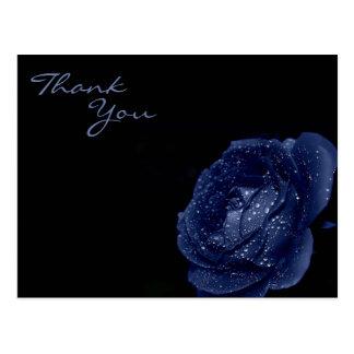 青のバラは感謝していしています はがき