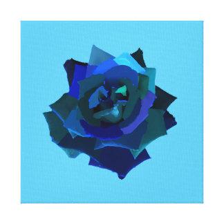 青のバラ キャンバスプリント