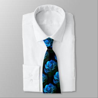青のバラ ネクタイ