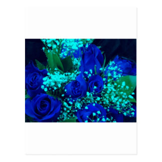 青のバラ ポストカード