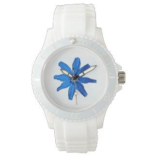 青のバラ 腕時計