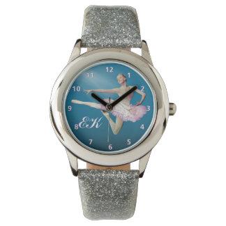 青のバレリーナの跳躍、モノグラム 腕時計