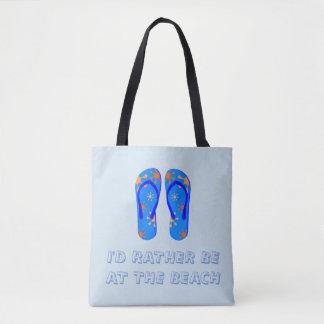 青のビーチのテーマのトートバック トートバッグ