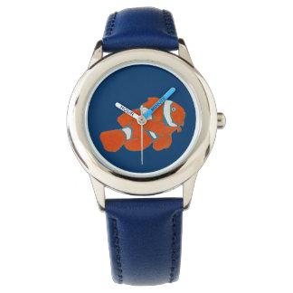 青のピエロの魚 腕時計