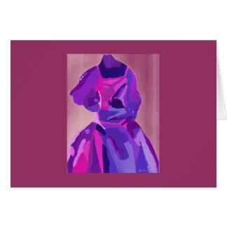 青のファッショニスタ花型女性歌手 カード