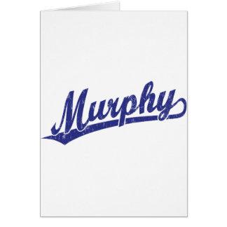 青のマーフィーの原稿のロゴ カード