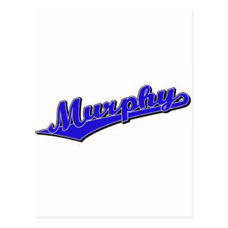 青のマーフィーの原稿のロゴ ポストカード