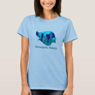 青のミネアポリスの美しい Tシャツ
