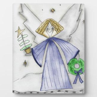 青のモダンな天使 フォトプラーク