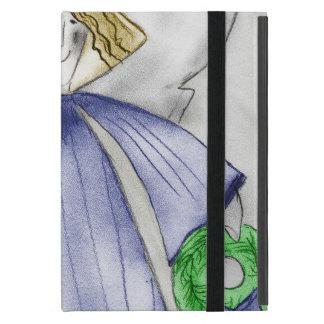 青のモダンな天使 iPad MINI ケース