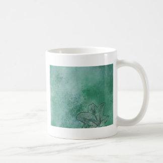 青のユリ コーヒーマグカップ