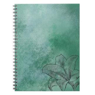 青のユリ ノートブック