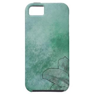 青のユリ iPhone 5 タフケース