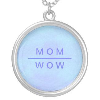 青のワウのお母さんのネックレス シルバープレートネックレス