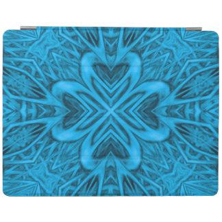 青の万華鏡のように千変万化するパターンのiPad頭が切れるなカバー iPadスマートカバー
