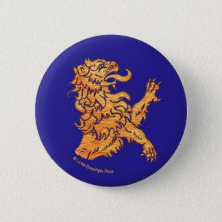 青の中世ライオン 缶バッジ