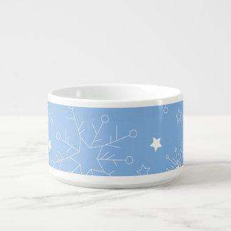 青の休日の雪片 チリボウル