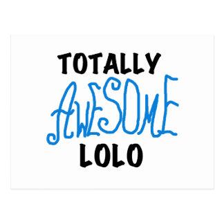 青の全く素晴らしいLoloのTシャツおよびギフト ポストカード