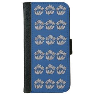 青の具体的なPosyの庭 iPhone 6/6s ウォレットケース