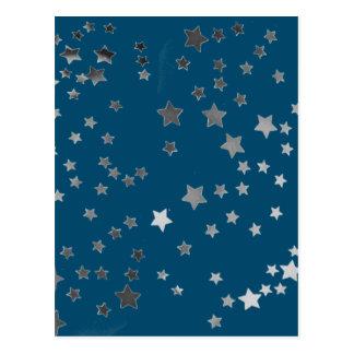 青の分散させた星 葉書き