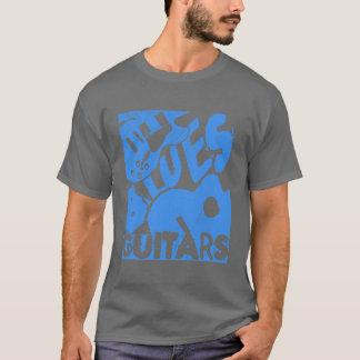 青の動揺してな青のギター Tシャツ