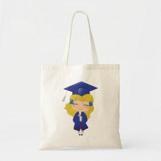 青の卒業の女の子 トートバッグ