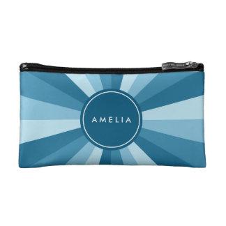 青の名前入りな一流のカラーホイールの色合い コスメティックバッグ