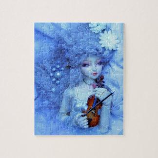青の女性のファンタジーのパズル ジグソーパズル