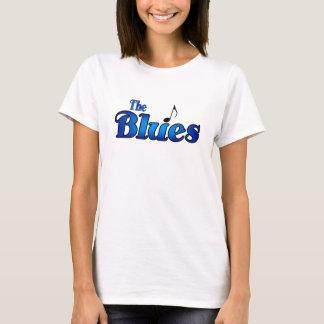青の女性ベビードール Tシャツ