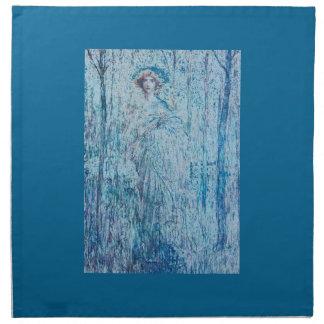 青の女性 ナプキンクロス