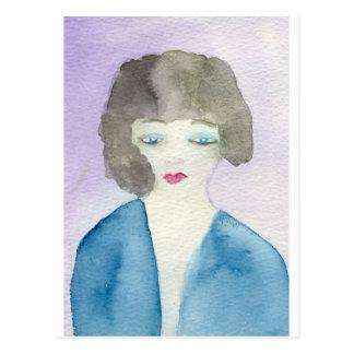 青の女性 ポストカード