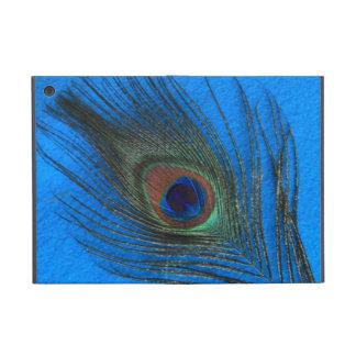 青の孔雀の羽 iPad MINI ケース