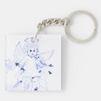 青の少し天使 キーホルダー