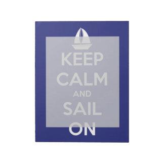 青の平静そして帆を保って下さい ノートパッド