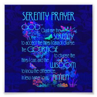 青の平静の祈りの言葉 フォトプリント