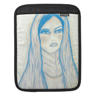 青の情け深いメリー iPadスリーブ