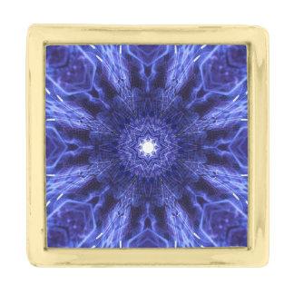 青の抽象的な古代芸術 ゴールド ラペルピン