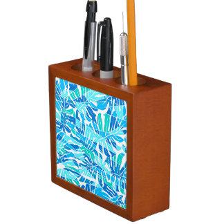 青の抽象的な波 ペンスタンド