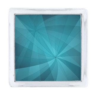 青の抽象的な背景 シルバー ラペルピン