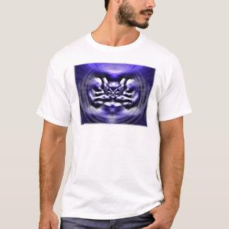 青の抽象的な顔 Tシャツ
