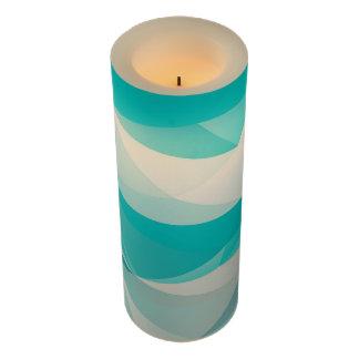 青の抽象的なFlameless蝋燭 LEDキャンドル