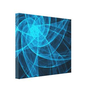 青の抽象的なTullesの星のコンピュータ・アート キャンバスプリント