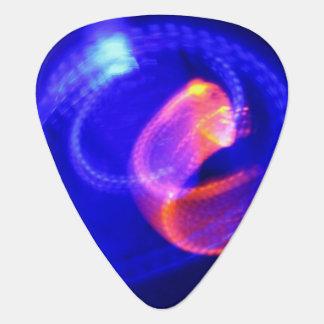 青の抽象芸術のオレンジ ギターピック